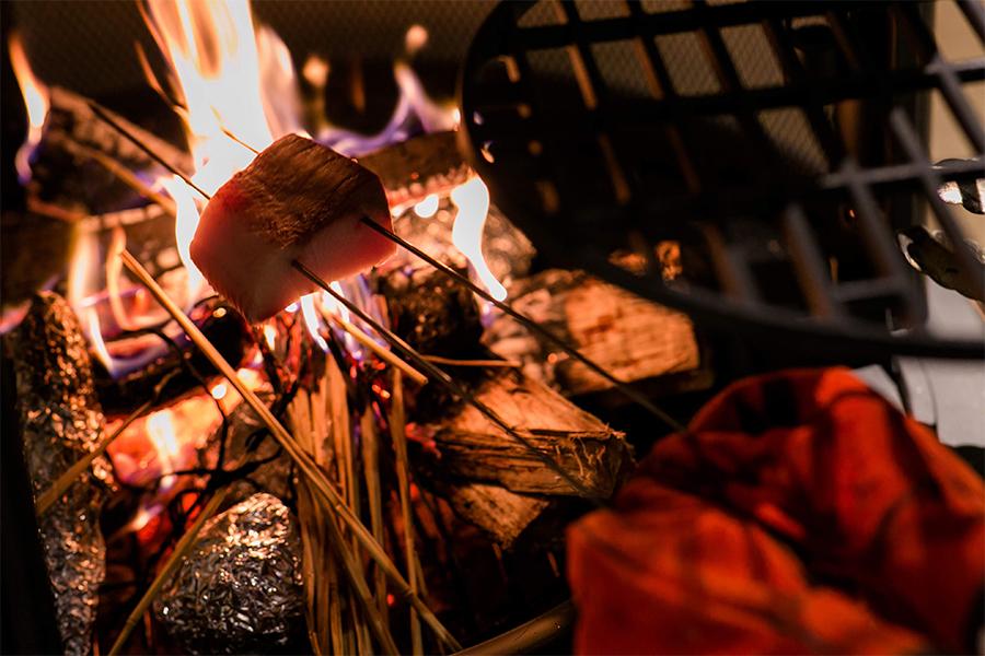 薪ストーブ料理イメージ写真