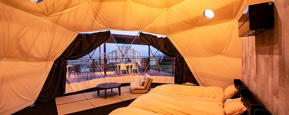第2グランピング場のドームテント